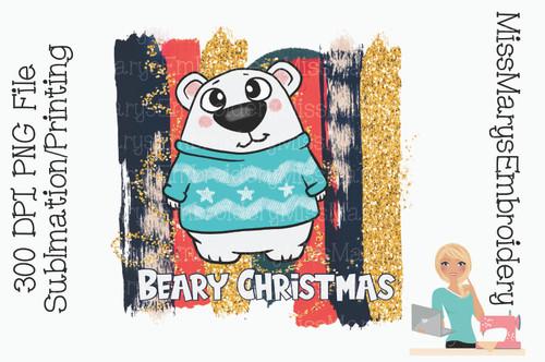 Beary Christmas PNG