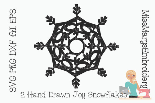 Joy Word Snowflake