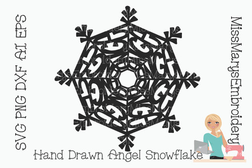 Angel  Word Snowflake