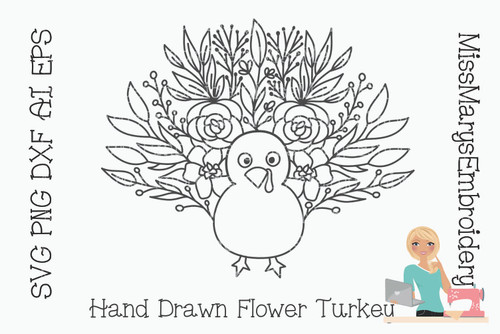 Flower Turkey SVG