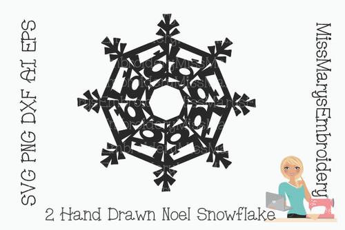 Noel Word Snowflake