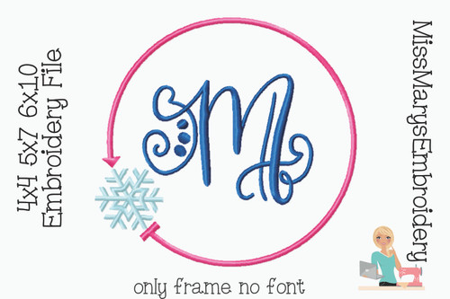 Snow Monogram Embroidery