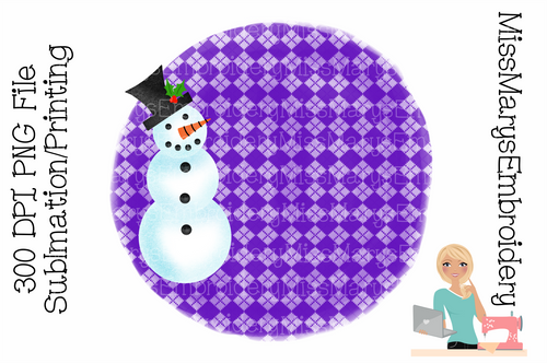 Snowman Sublimation Background