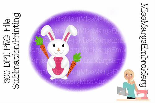 Easter Bunny Sublimation Background