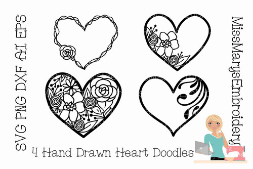Four Hand Drawn Doodles