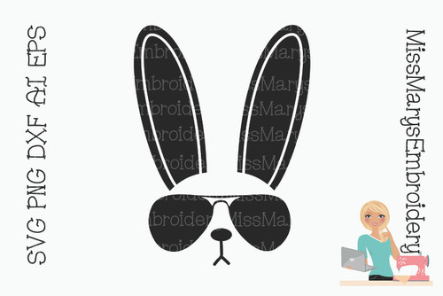 Sunglasses Bunny SVG