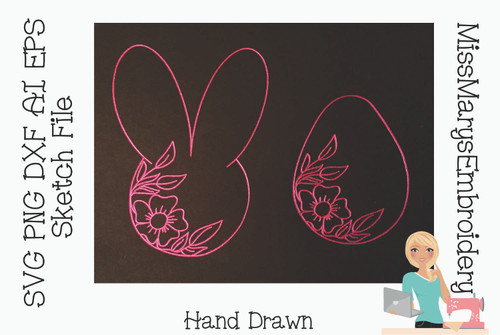 Sketch Easter Set SVG