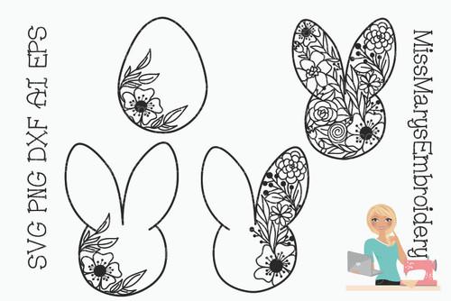 Flower Easter Doodle Set