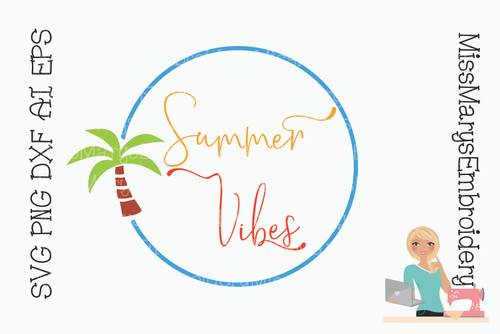 Summer Vibes Monogram SVG