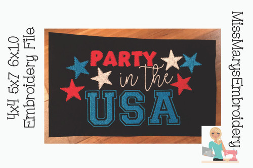 Party In the USA Embroidery