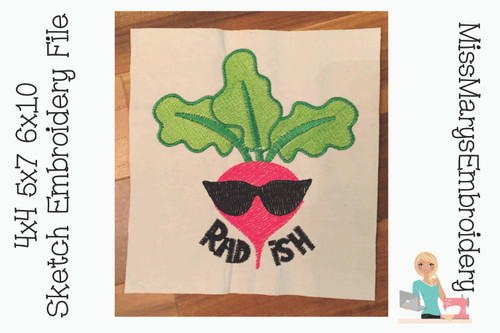 Sketch Radish Embroidery File