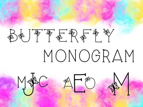 Butterfly Monogram TTF