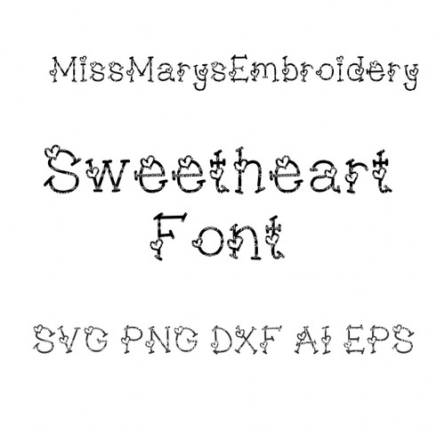 Sweetheart SVG Letters