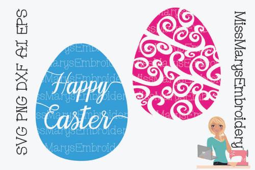 Easter Egg Swirls