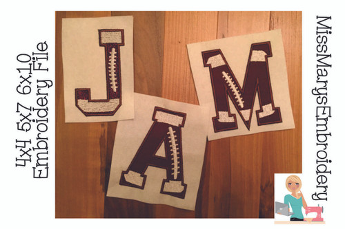 Football Applique Letters