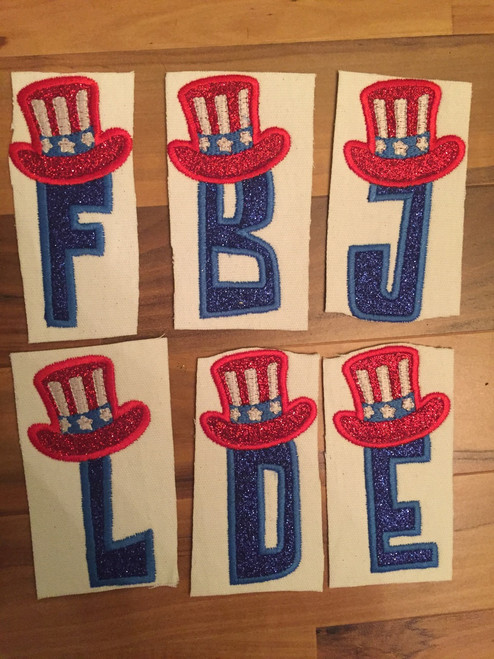 Patriotic Embroidery Font