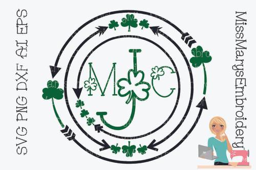 St. Patrick's Day Arrow Monogram Frame