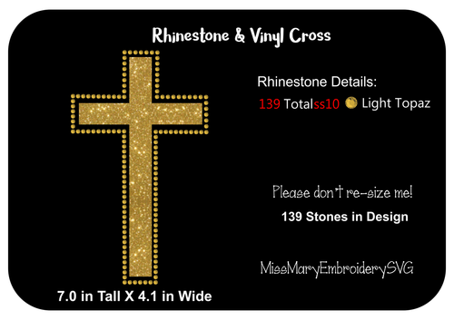 Cross Vinyl & Rhinestone Template