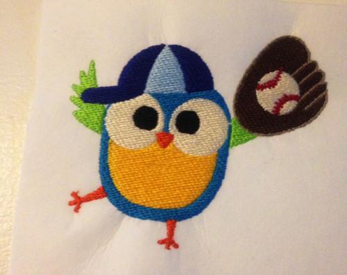 Baseball Glove Owl