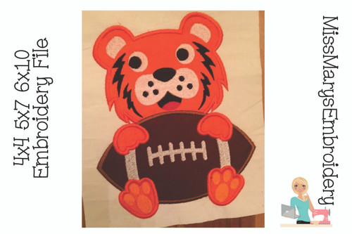 Tiger Applique Football
