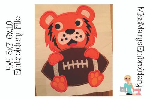 Tiger Applique Football
