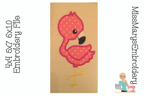 Flamingo Applique