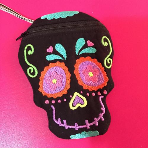 In the Hoop Sugar Skull Bag