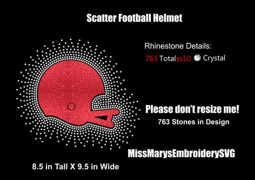 Scatter Rhinestone & Vinyl Helmet