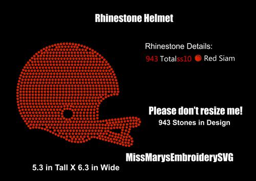 Rhinestone Helmet