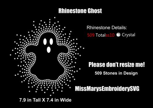 Scatter Rhinestone Ghost