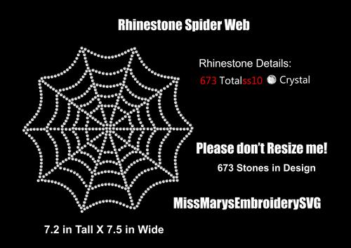 Rhinestone Spiderweb