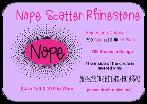 Rhinestone Nope