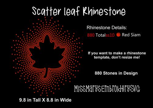 Scatter Rhinestone Leaf