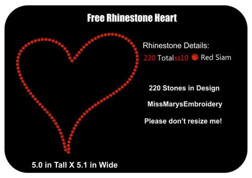 Free Rhinestone Heart