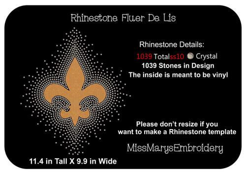 Rhinestone Fleur De Lis