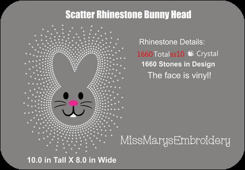 Scatter Rhinestone Bunny Head