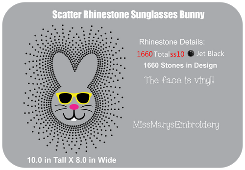 Scatter Rhinestone Bunny Sunglasses