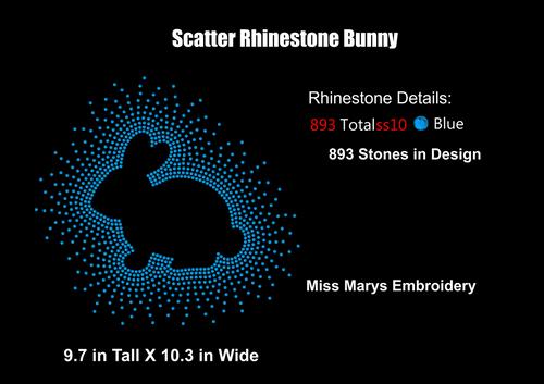 Scatter Rhinestone Bunny