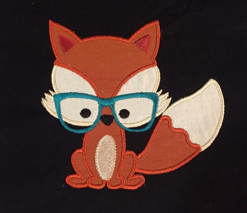 Nerdy Fox Applique
