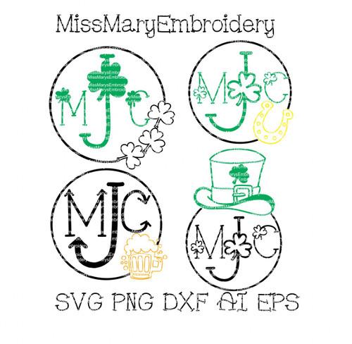 St Patrick's Monogram SVG