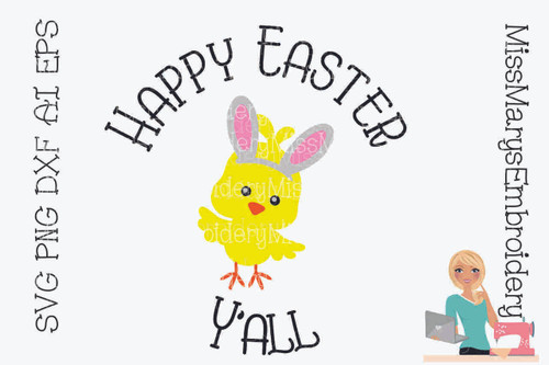 Happy Easter Y'all SVG