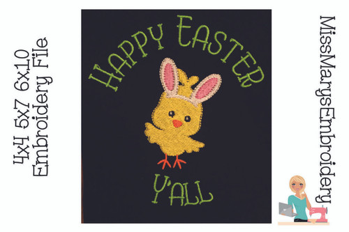 Happy Easter Embroidery