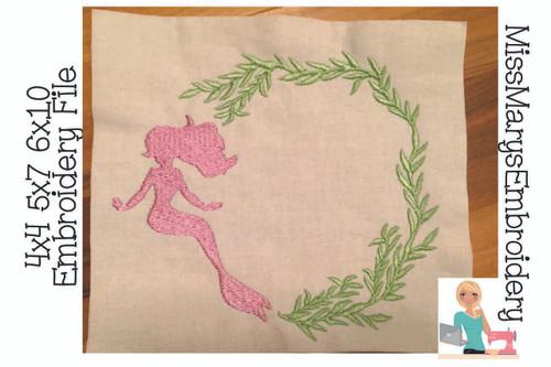 Mermaid Seaweed Monogram