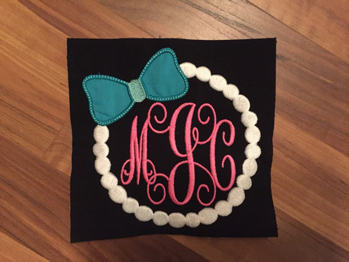 Pearl Embroidery Monogram