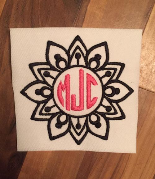 Mandala 1 Monogram Frame