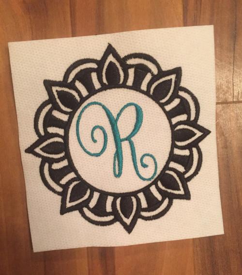Mandala Monogram 3