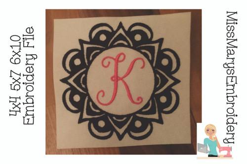 Mandala Monogram Frame 4