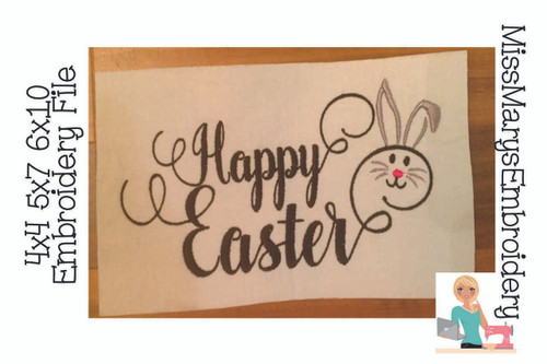Happy Easter Embroidery Saying
