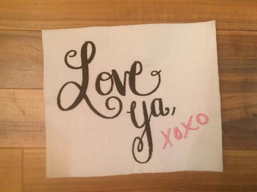 Love Ya Embroidery