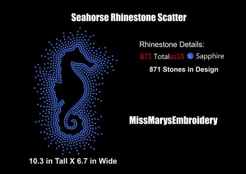Scatter Rhinestone Seahorse